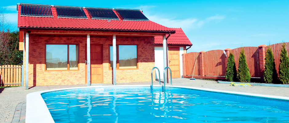 Solar heating of swimming pool