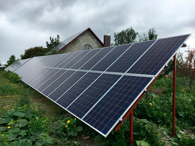 30 kW on-grid SPP for feed-in tariff for private house, Pidlisky, Volyn region